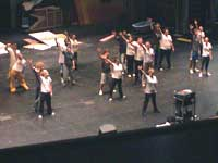 Vocalteens rehearse choreography for the fall 2004 concert